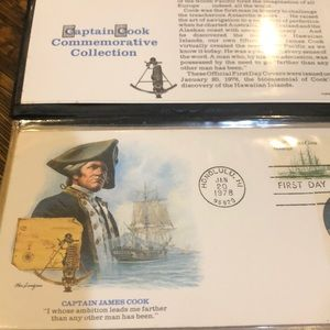 Captain Cook Commemorative First Day Issue